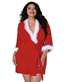 Plus Size Sexy Santa Robe