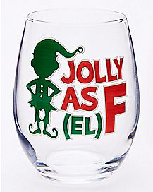 Jolly AF Stemless Wine Glass - 21 oz.