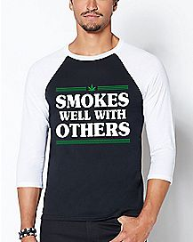 Raglan Smokes Well With Others T Shirt