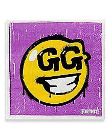 Loot Llama GG Smiley Face Beverage Napkins 16 Pack - Fortnite