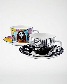 Jack and Sally Tea Cups & Saucers - The Nightmare Before Christmas