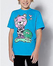 Boys Cuddle Team Leader Love T Shirt - Fortnite