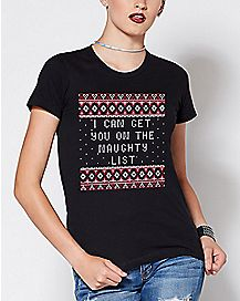 I Can Get You On The Naughty List T Shirt