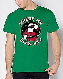 Santa Where My Ho's At T Shirt