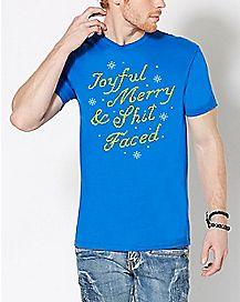 Joyful Merry & Shitfaced T Shirt