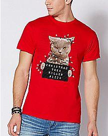 Christmas Tree Killer Cat T Shirt