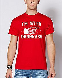 I'm With Drunkass Christmas T Shirt
