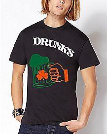 Shamrock Mug Drunks T Shirt