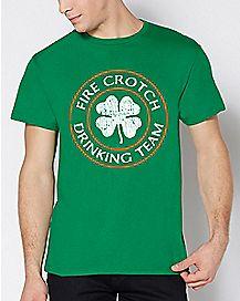 Fire Crotch Drinking Team T Shirt