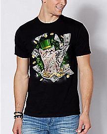 Shamrock Cats Money T Shirt