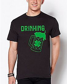 Shamrock Drinking T Shirt