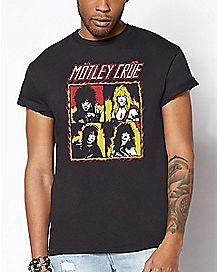 Group Flame Motley Crue T Shirt