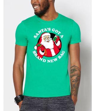 Santa's Got A Brand New Bag Ugly Christmas T Shirt