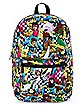 Checkered Print Character Backpack - X-Men