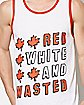 Canada Red White and Wasted Tank Top