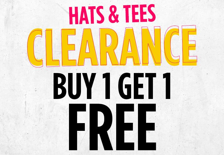 Clearance Hats & Tees