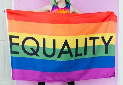Equality rainbow LGBTQ pride flag