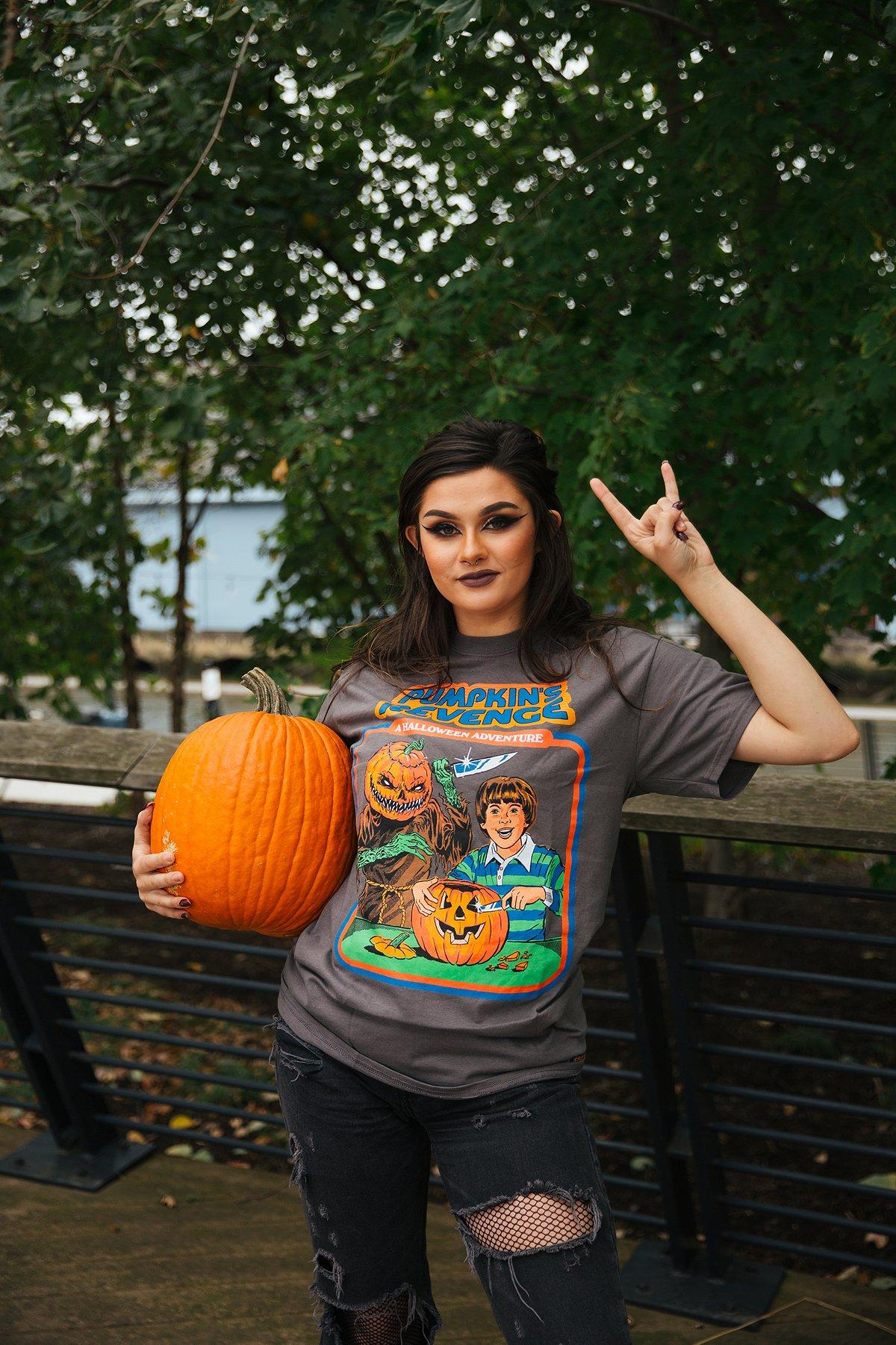 steven rhodes pumpkin's revenge t shirt t-shirt
