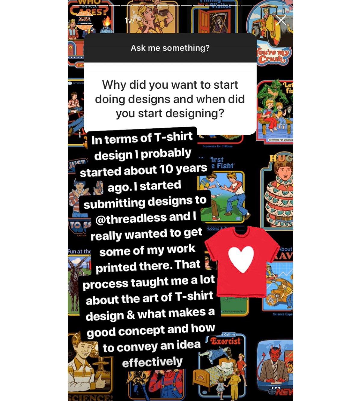 steven rhodes spencer's instagram interview when did you start designing