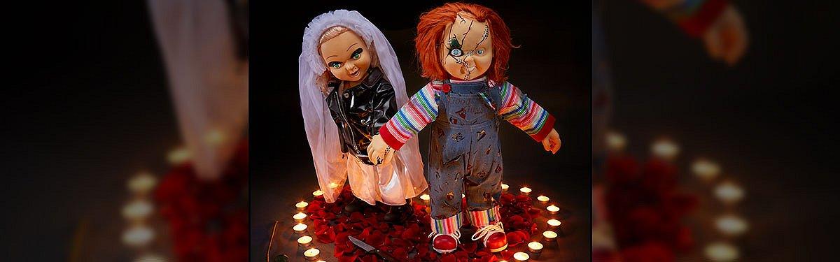 Valentine's Day Chucky and Tiffany Dolls